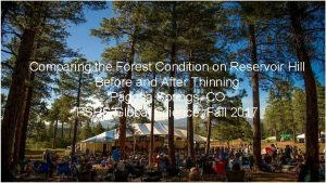 Comparing the Forest Condition on Reservoir Hill Before