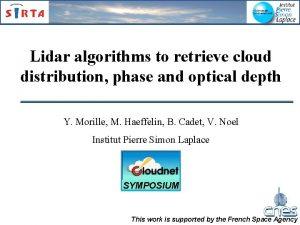 Lidar algorithms to retrieve cloud distribution phase and