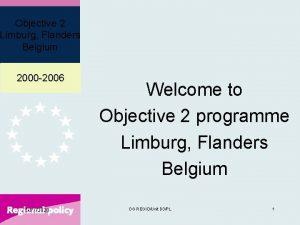 Objective 2 Limburg Flanders Belgium 2000 2006 1072020
