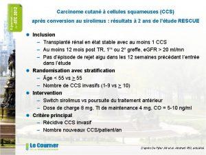 Carcinome cutan cellules squameuses CCS aprs conversion au