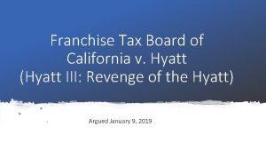 Franchise Tax Board of California v Hyatt Hyatt