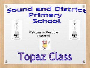 Welcome to Meet the Teachers Meet The Teachers