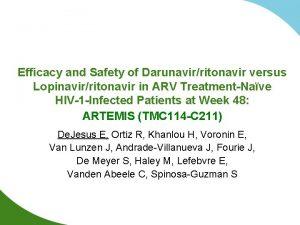 Efficacy and Safety of Darunavirritonavir versus Lopinavirritonavir in