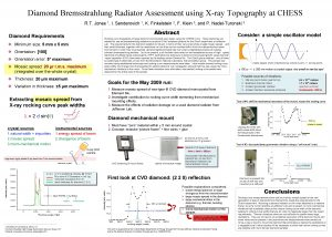 Diamond Bremsstrahlung Radiator Assessment using Xray Topography at
