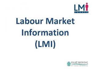 Labour Market Information LMI What is Labour Market