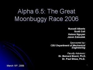 Alpha 6 5 The Great Moonbuggy Race 2006