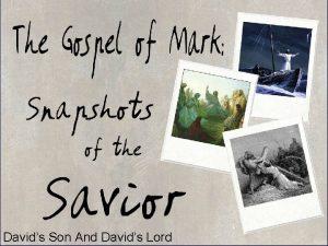 Davids Son And Davids Lord Mark 12 35