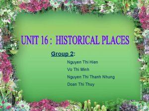 Group 2 Nguyen Thi Hien Vo Thi Minh