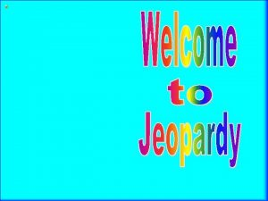 Multiplication Division Jeopardy JEOPARDY RULES Review for Quarter