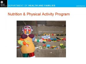 Nutrition Physical Activity Program Where Public Health Nutritionists