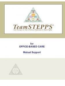 for OFFICEBASED CARE Mutual Support INTRODUCTION Mutual Support