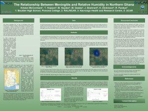The Relationship Between Meningitis and Relative Humidity in
