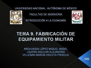 UNIVERSIDAD NACIONAL AUTNOMA DE MXICO FACULTAD DE INGENIERA