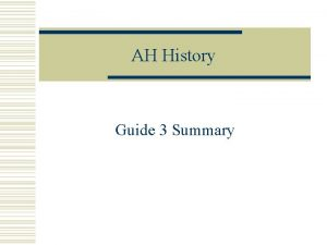 AH History Guide 3 Summary Missouri Compromise w