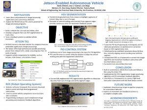 JetsonEnabled Autonomous Vehicle Alexis Gilmore Jose L Guzman