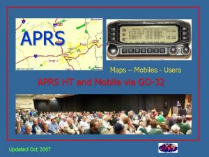 APRS Maps Mobiles Users APRS HT and Mobile