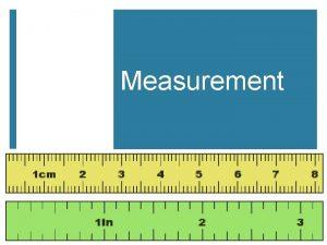 Measurement I Measurement A A quantity that has