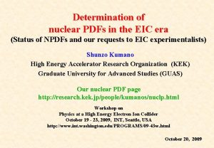 Determination of nuclear PDFs in the EIC era