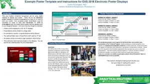 Example Poster Template and Instructions for EAS 2018