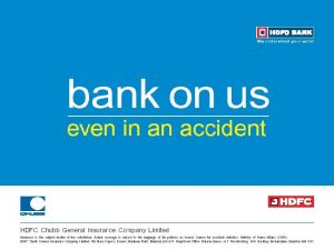 About us HDFC Chubb General Insurance Joint venture