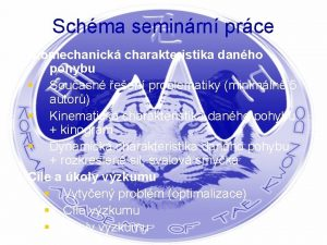 Schma seminrn prce Biomechanick charakteristika danho pohybu Souasn