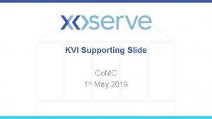 KVI Supporting Slide Co MC 1 st May