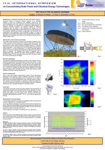 13 th INTERNATIONAL SYMPOSIUM on Concentrating Solar Power