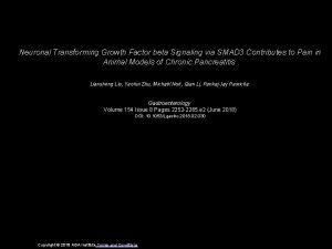 Neuronal Transforming Growth Factor beta Signaling via SMAD