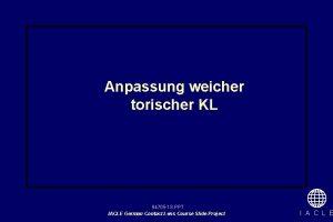 Anpassung weicher torischer KL 94705 1 S PPT