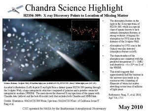 Chandra Science Highlight H 2356 309 Xray Discovery