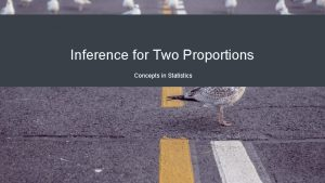 Inference for Two Proportions Concepts in Statistics Inferences