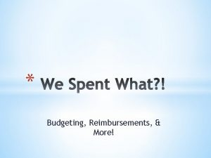 Budgeting Reimbursements More Club Development Account Sport Club