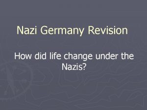 Nazi Germany Revision How did life change under