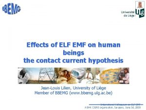 Effects of ELF EMF on human beings the