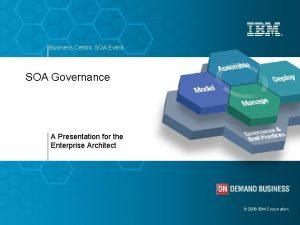 Business Centric SOA Event SOA Governance A Presentation