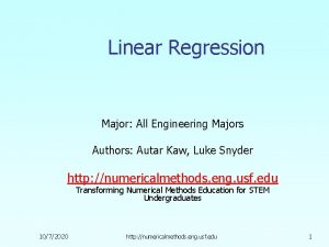 Linear Regression Major All Engineering Majors Authors Autar