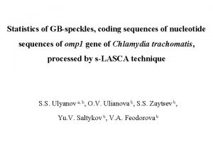 Statistics of GBspeckles coding sequences of nucleotide sequences