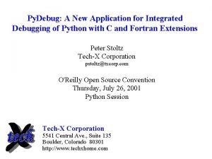Py Debug A New Application for Integrated Debugging