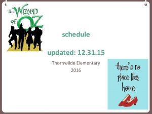 schedule updated 12 31 15 Thornwilde Elementary 2016