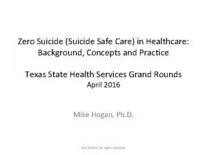 Zero Suicide Suicide Safe Care in Healthcare Background