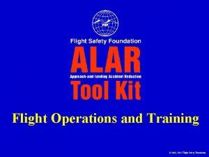Flight Operations and Training 2000 2001 Flight Safety