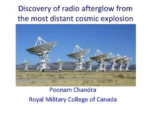Discovery of radio afterglow from the most distant