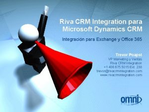 Riva CRM Integration para Microsoft Dynamics CRM Integracin