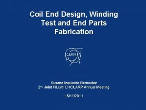Coil End Design Winding Test and End Parts
