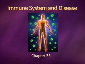 Immune System and Disease Chapter 35 Infectious Disease
