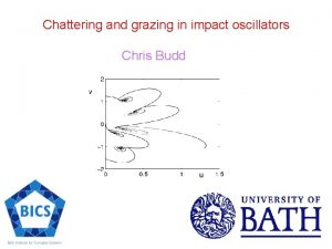 Chattering and grazing in impact oscillators Chris Budd