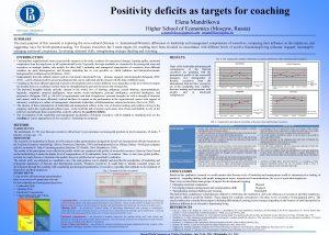 Positivity deficits as targets for coaching Elena Mandrikova