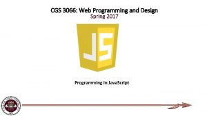 CGS 3066 Web Programming and Design Spring 2017