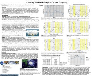 Assessing Worldwide Tropical Cyclone Frequency Conributors Dr Paul