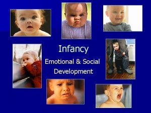 Infancy Emotional Social Development Emotional Development n Basic